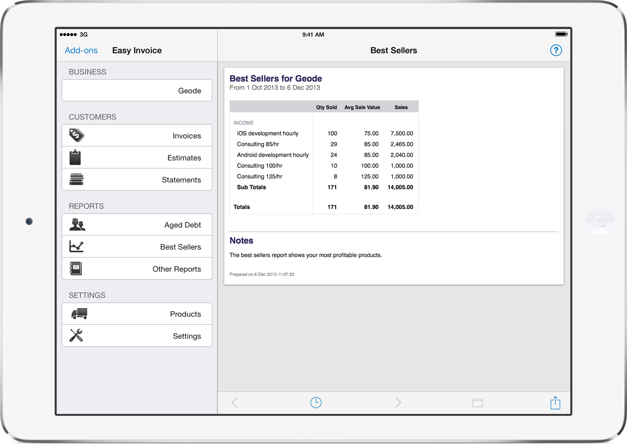 pdf invoicing for ipad iphone and mac easy invoice products