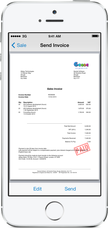Invoice Software For Ipad Pdf Pdf Invoicing For Ipad Iphone And Mac  Easy Invoice How Long Do You Keep Receipts Excel with Blank Receipt Excel Easy Invoice Creates Professional Pdf Invoices Straight From Your Iphone Or  Ipad Read Receipts In Gmail Excel